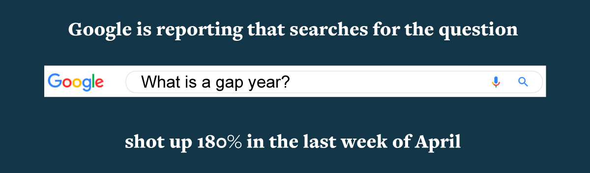 What is a Gap Year Google Search